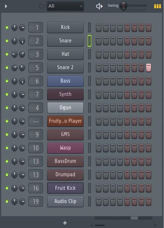 チャンネルに「グループ」を設定し作業を効率化する FL Studio