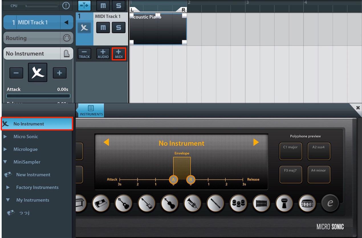 MIDIトラック