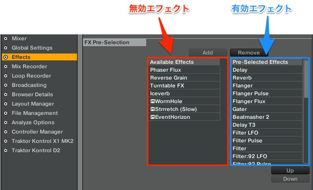 Effect_pre_selection