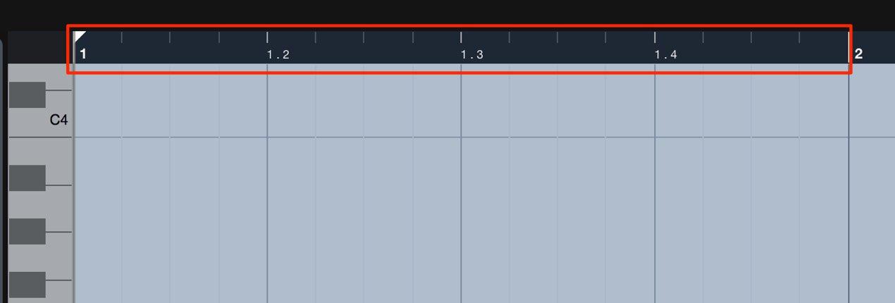 ピアノロールの小節