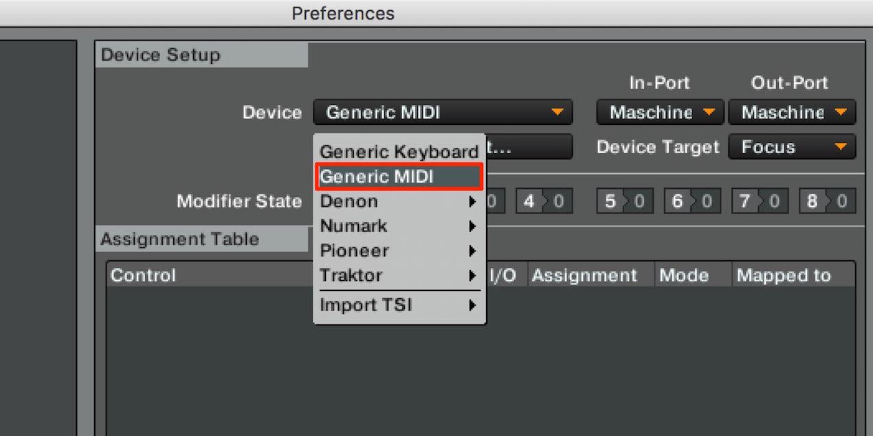 Generic MIDI