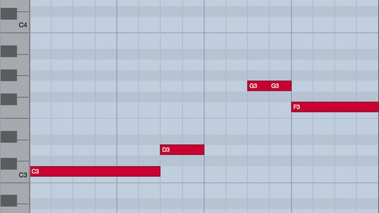 ピアノロールとリズムの読み方 1
