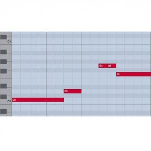 ピアノロールとリズムの読み方 3