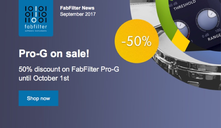 FabFilter Pro-G 50%OFF