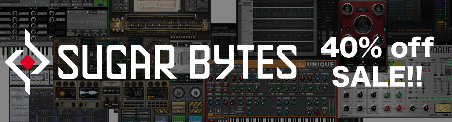 Sugar-Bytes 40% off セール