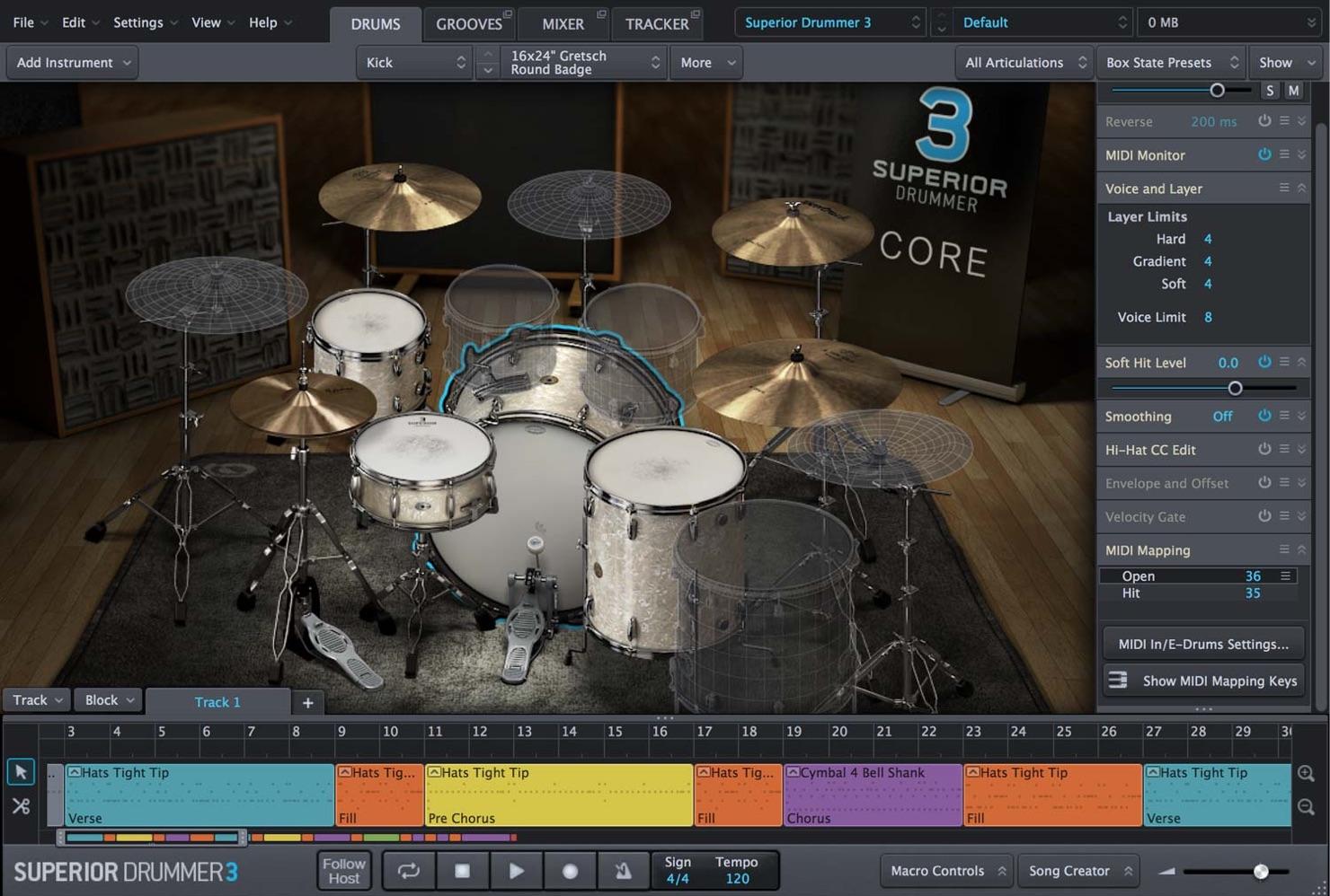 サウンド容量は圧巻の235GB!「SUPERIOR DRUMMER 3」が発売されました