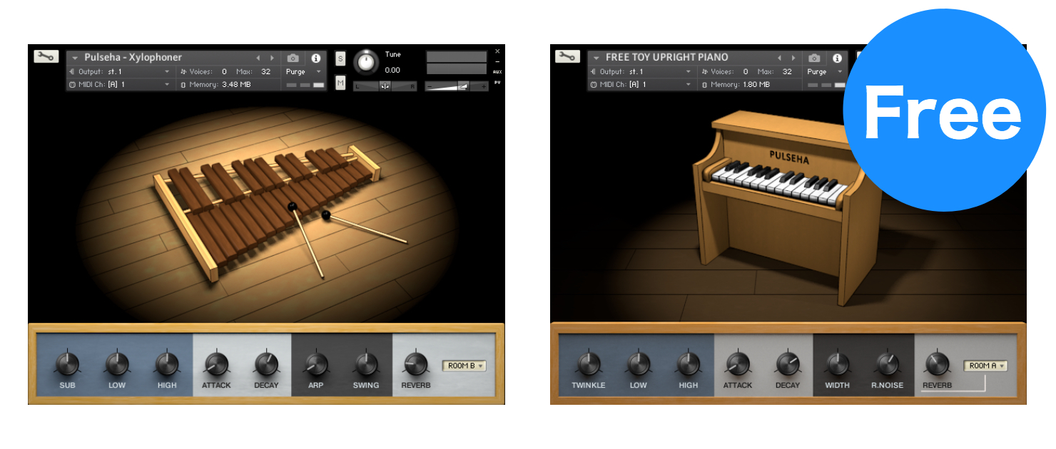 無料で使えるトイピアノと木琴音源がPulsehaで配布中!(一部期間限定)