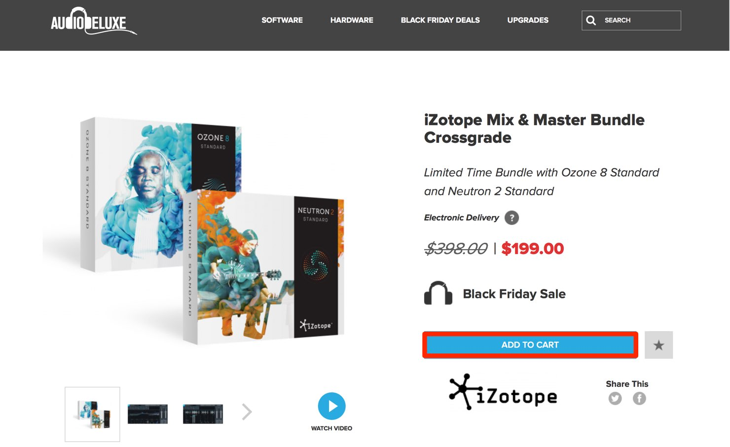 iZotope Mix & Master Bundle Crossgrade | AudioDeluxe