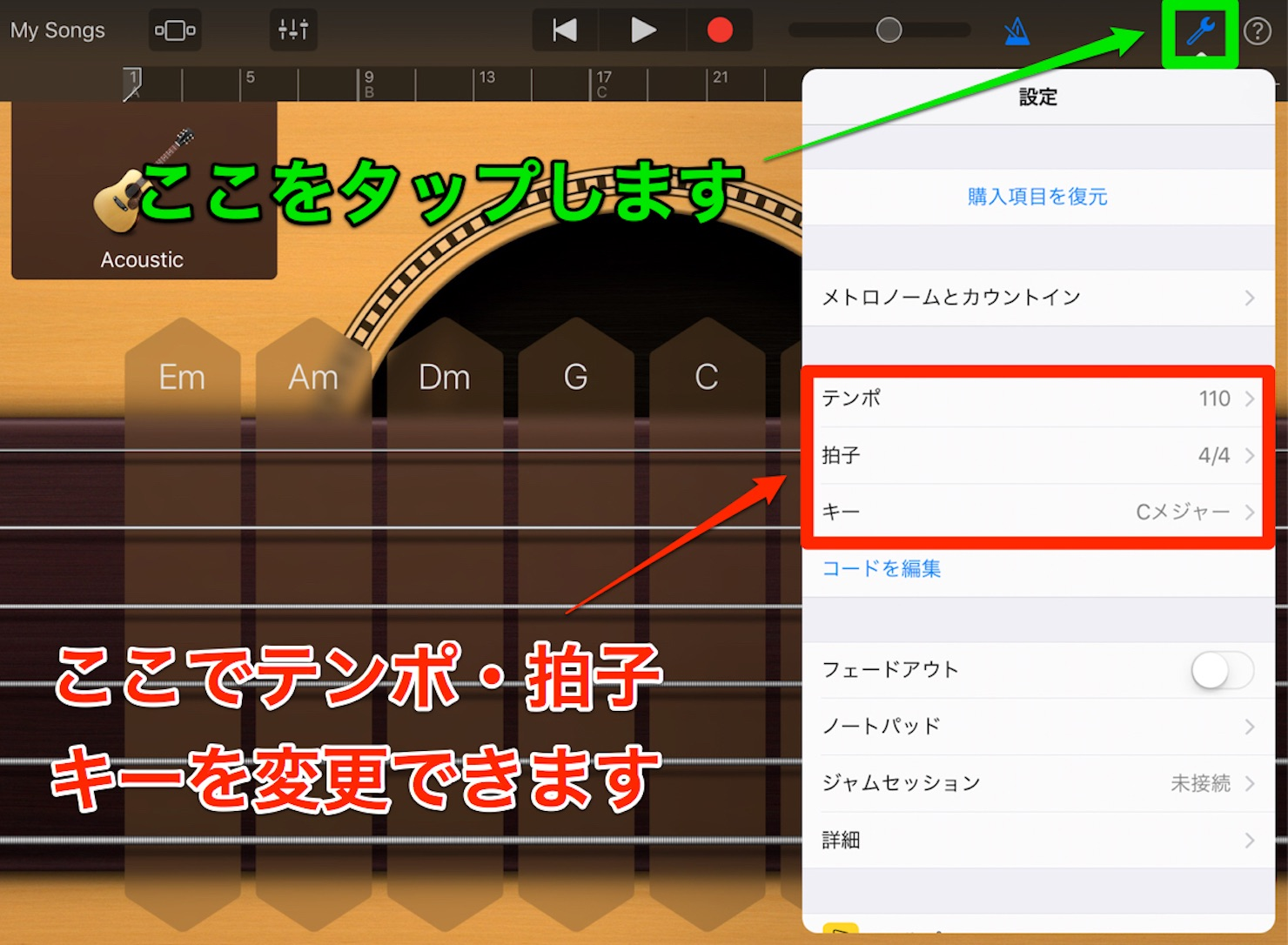 GarageBand-iOS-tempo-key