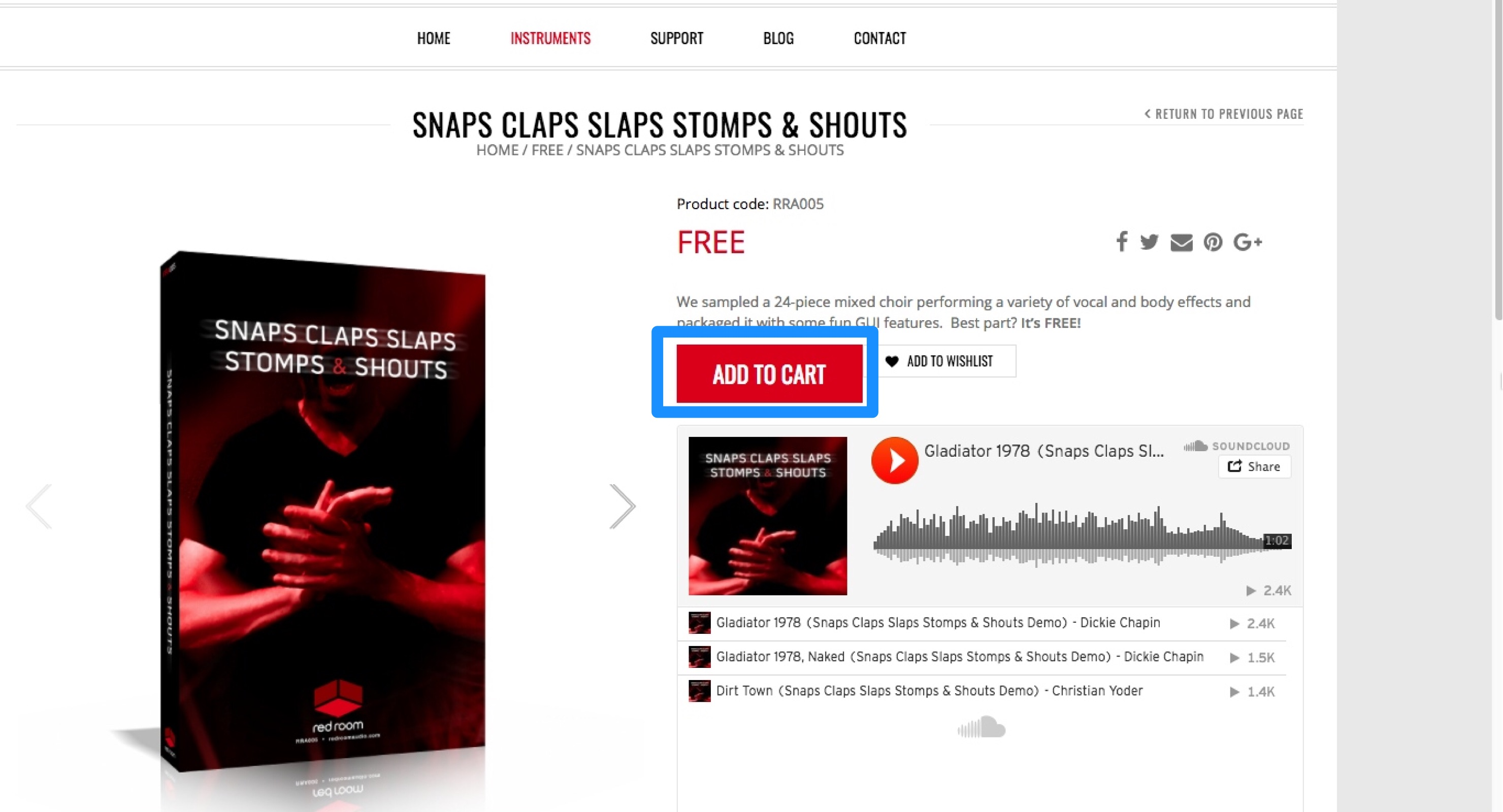 Red Room Audio-Snaps Claps Slaps Stomps & Shouts-1