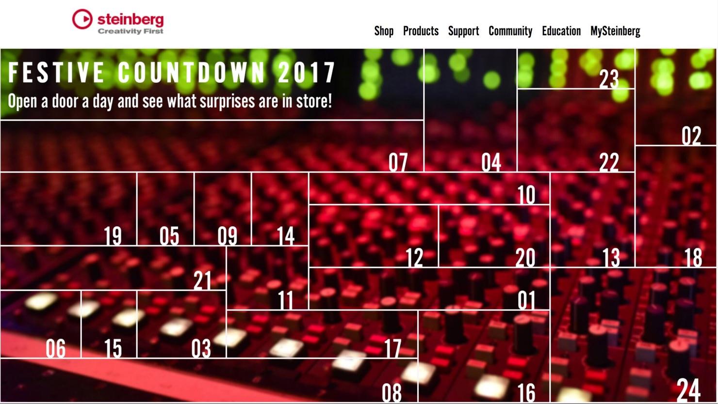 Steinberg Festive Countdown 2017-1-1