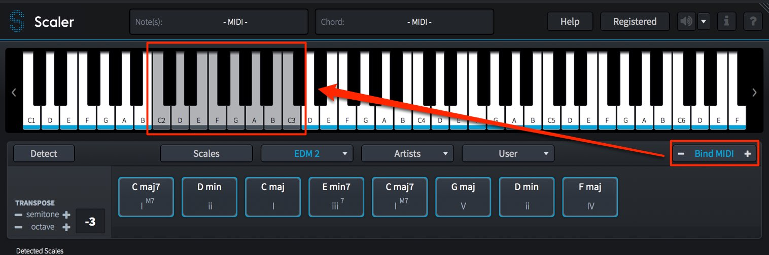 Bind MIDI