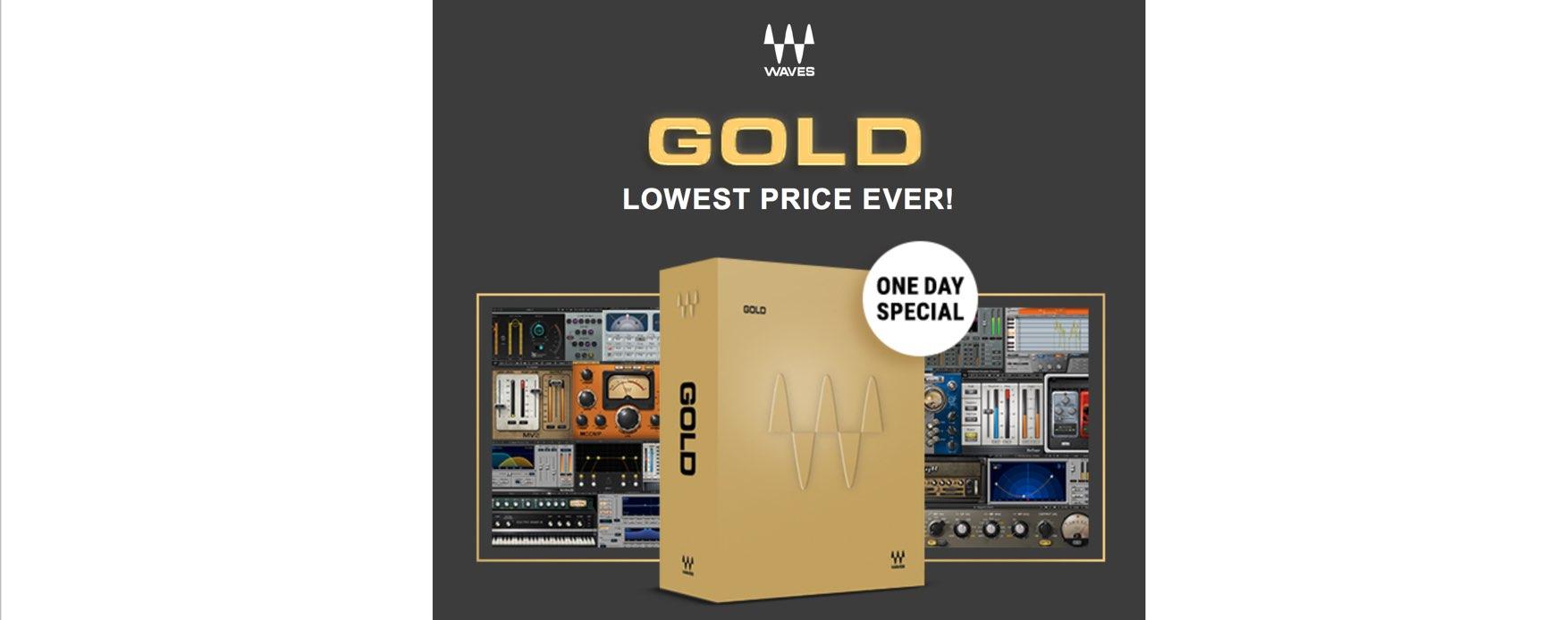 ミキシングの王道Waves Goldが24時間限り!!86%OFFの$129!