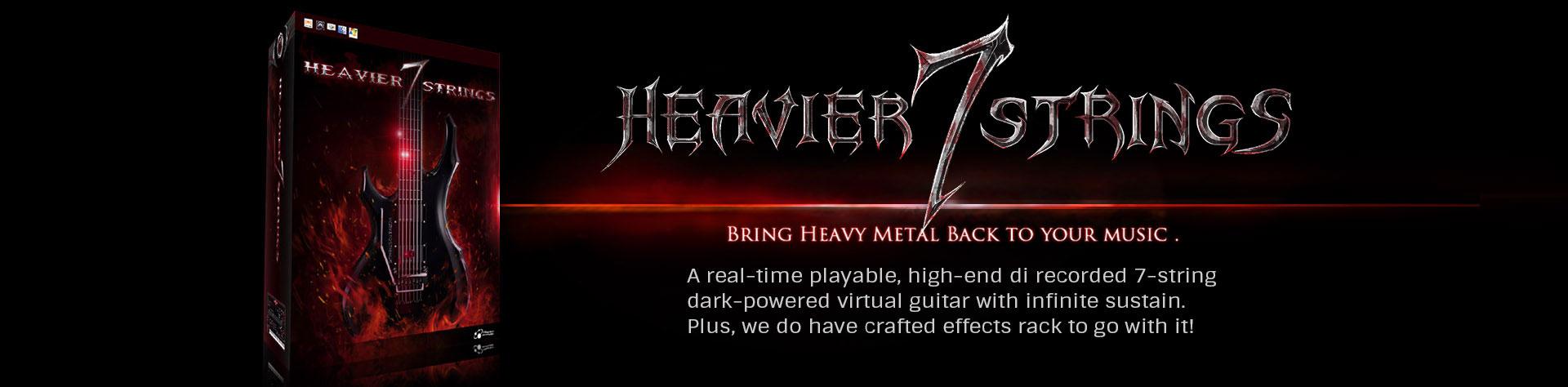 【40%OFF】ハードロックなどに最適な7弦ギター音源「Heavier 7 Strings」がブラックフライデーセール