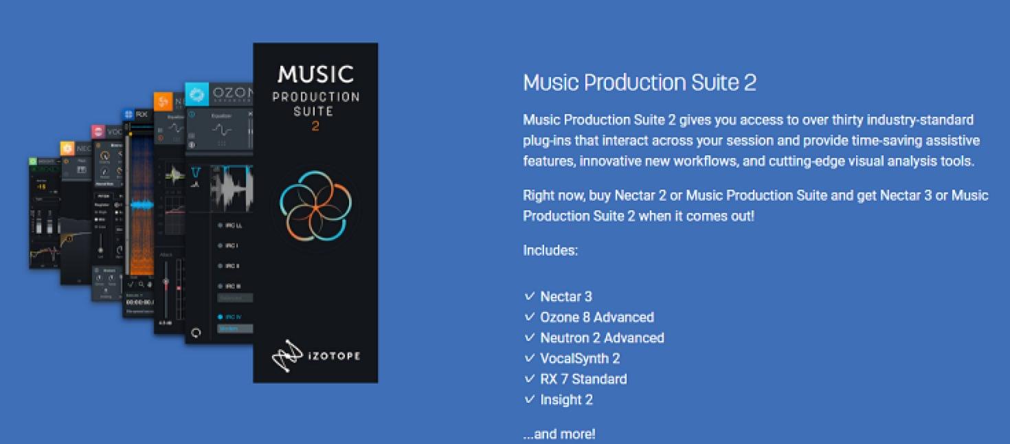 iZotope「Music Production Suite 2」 リリースを記念した大セールを開催
