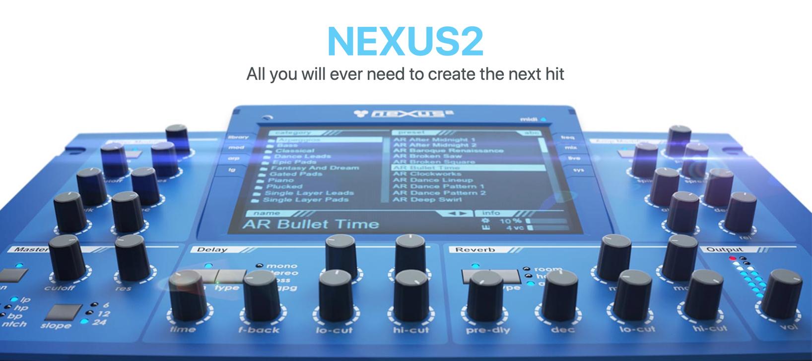 【定番シンセ】nexus2が199ドル 拡張プリセットもセール中