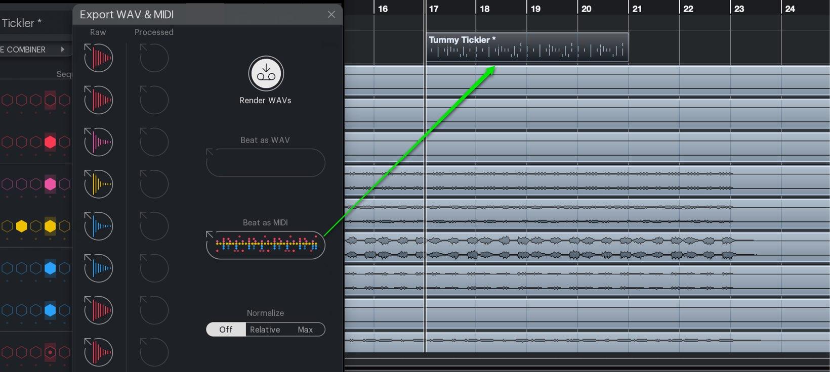 MIDI エクスポート
