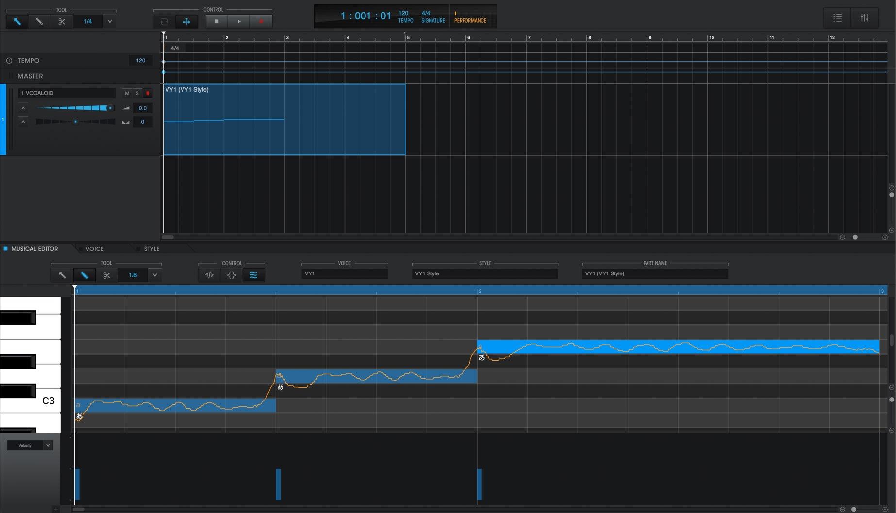 VOCALOID 5 Editor