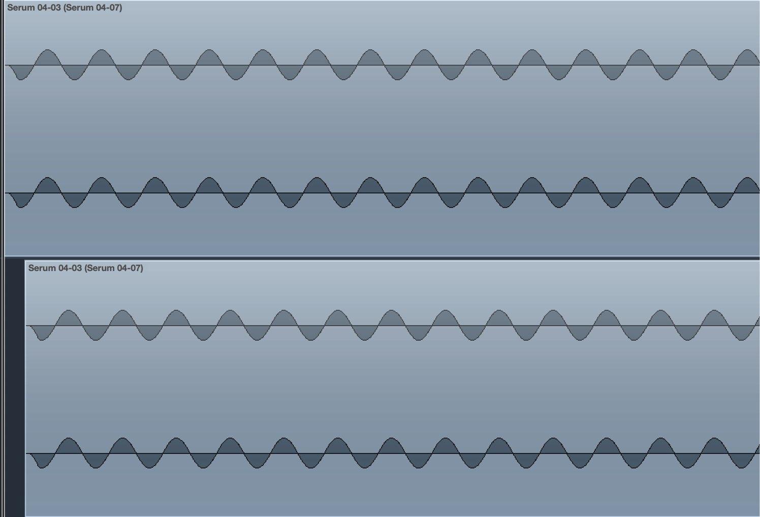 波形ずらす