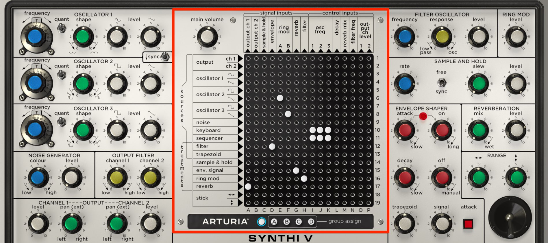 Synthi V Pin Matrix