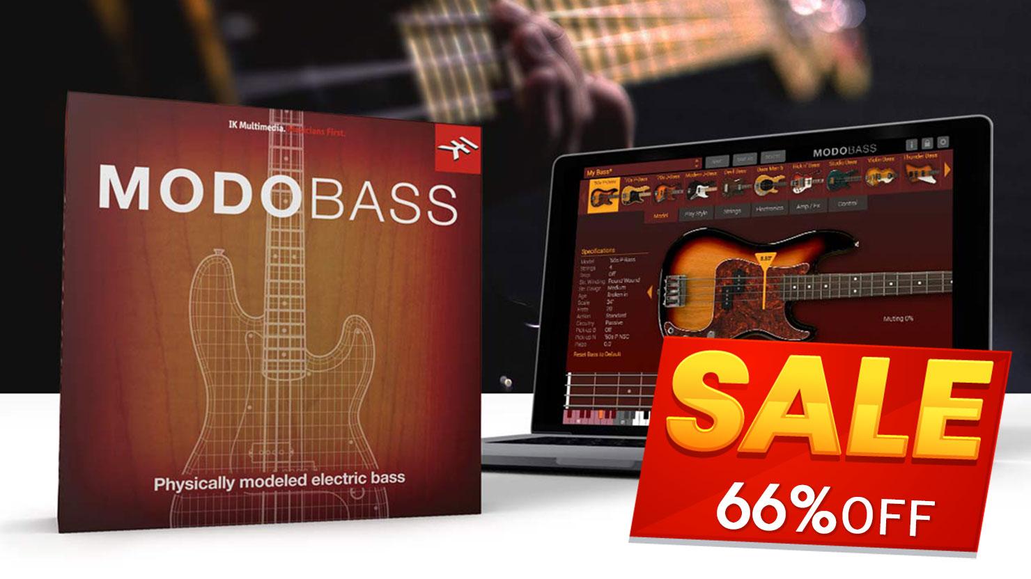 【66%OFF】生ベース音源の定番「MODO BASS」がセール中!