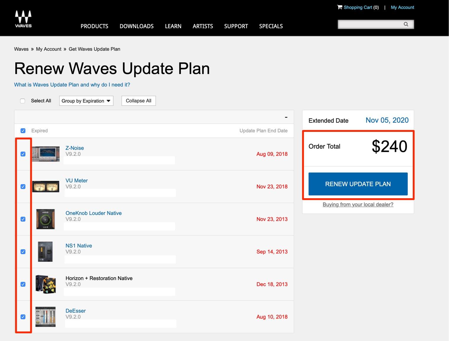 Get Waves Update Plan
