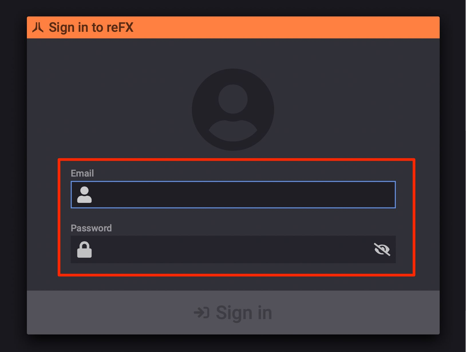 reFX Cloud Login