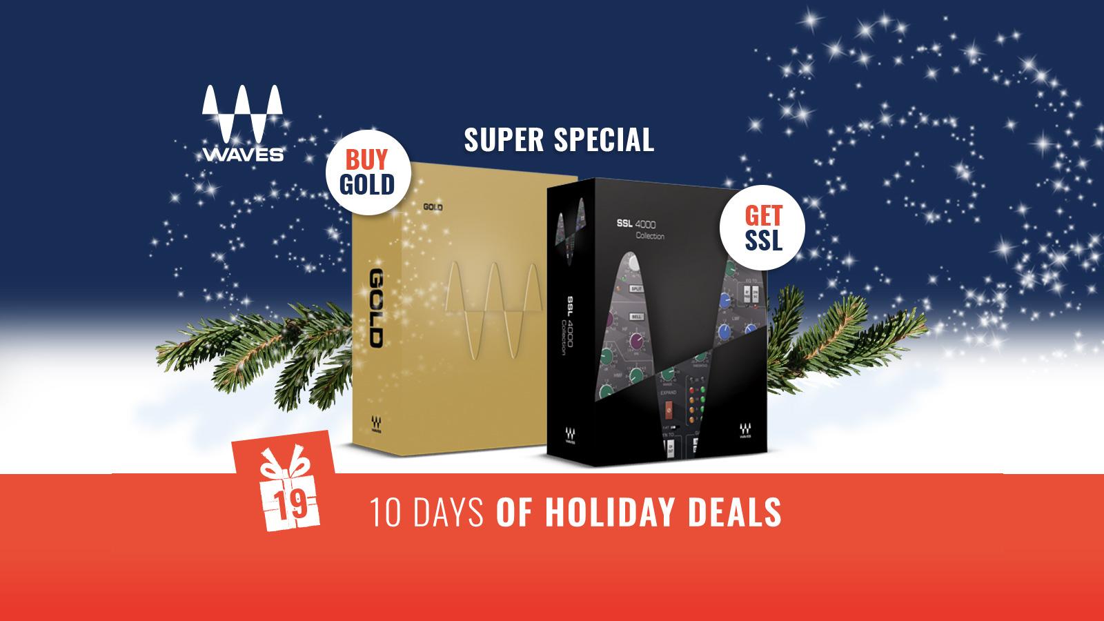 【本日19時まで】Waves Goldを買うとSSL 4000 Collection が無料でついてくるキャンペーン開催中!