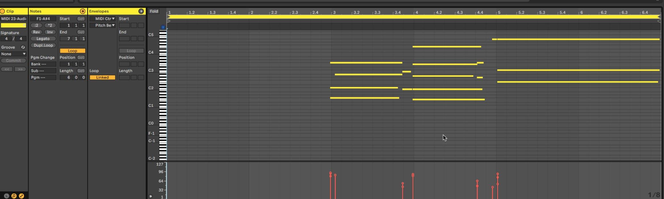 MIDI変換後 オーディオから