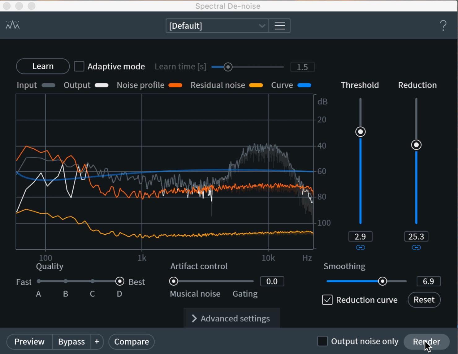 spectral de-noise