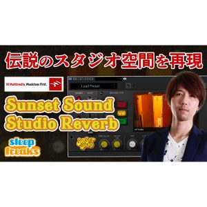 IK Multimedia  渾身の傑作リバーブ Sunset Sound  Studio Reverb
