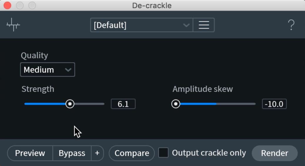 De-crackle