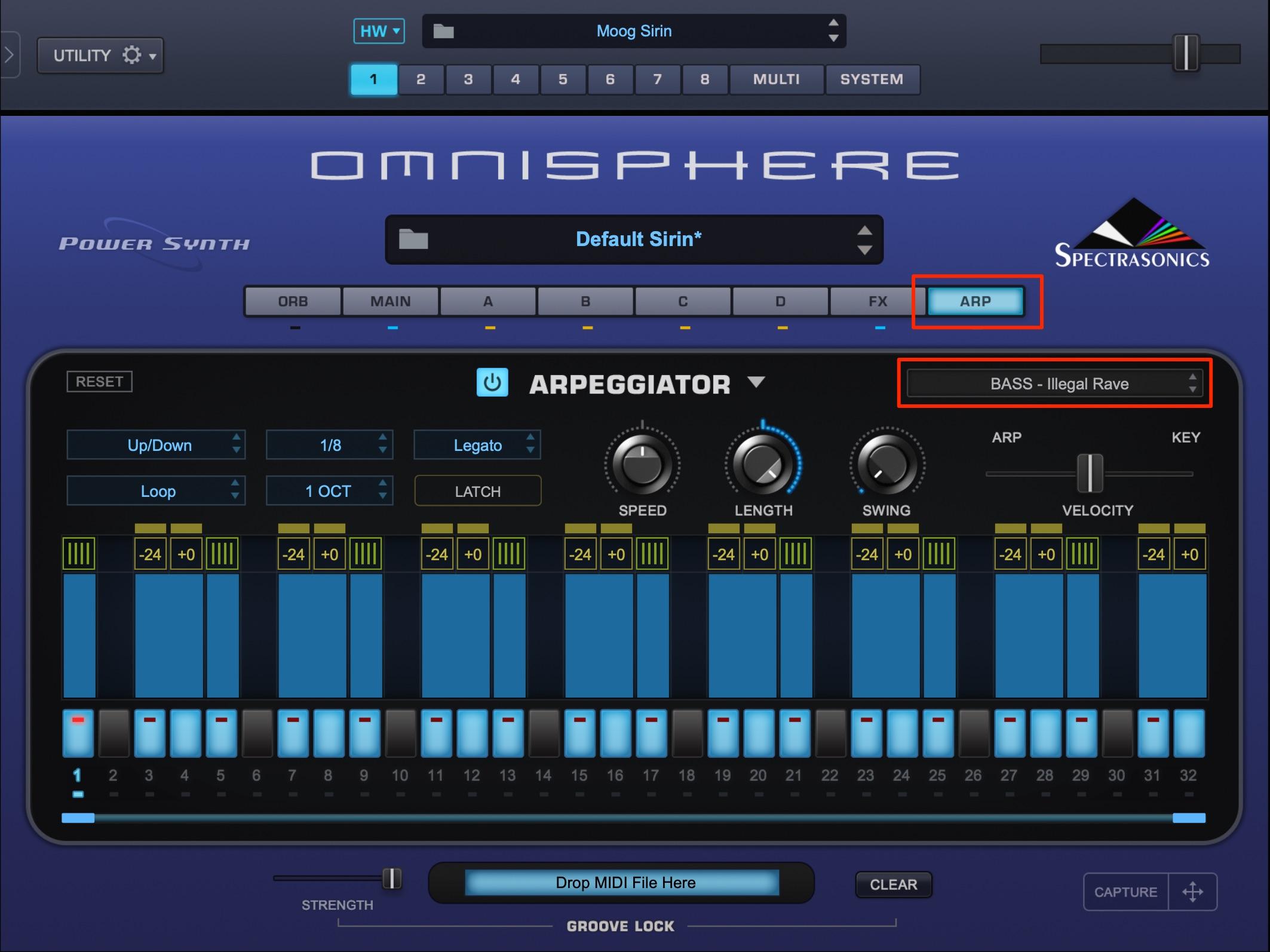 アルペジエイター Omnisphere