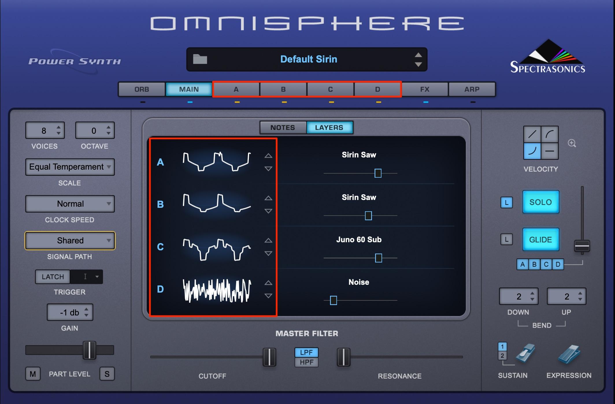 Omnisphere_サウンドレイヤー