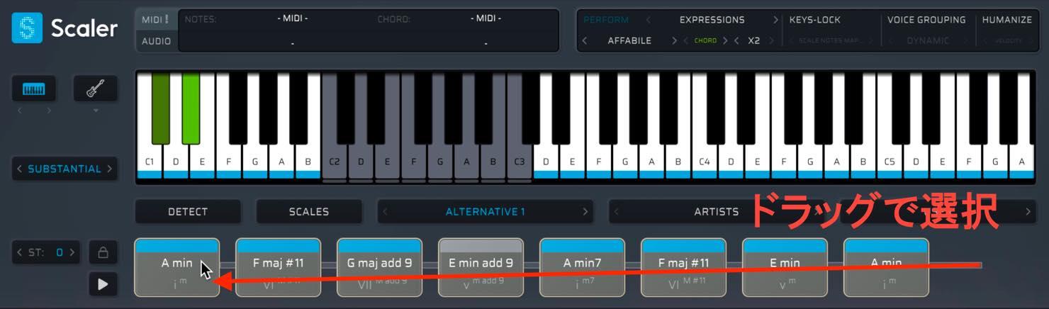 select chord