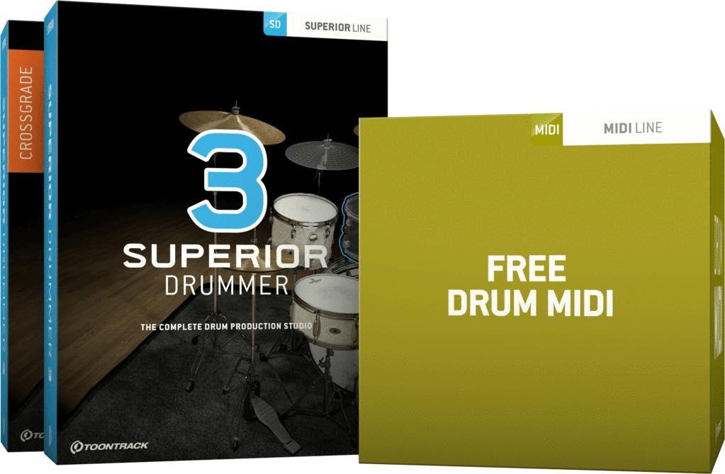 Toontrack Superior Drummer 3 がセール中!Drum MIDI Pack付き