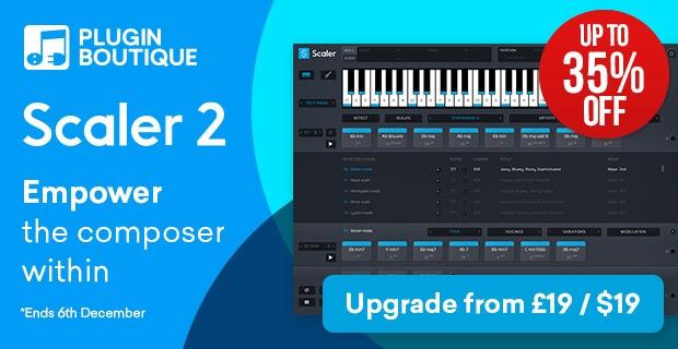 【最大35%OFF】コード進行支援ソフト「Scaler 2」がブラックフライデーセール中!