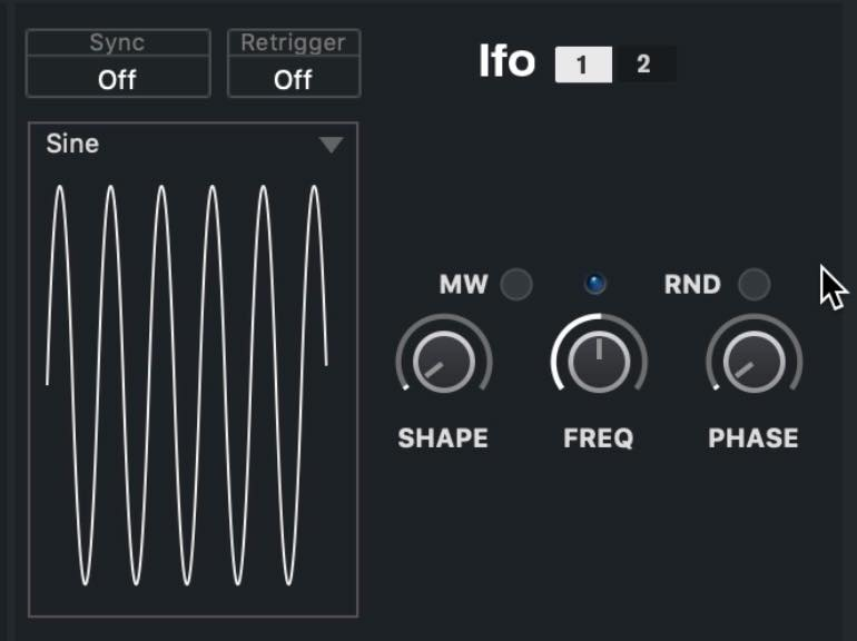 LFO parameter