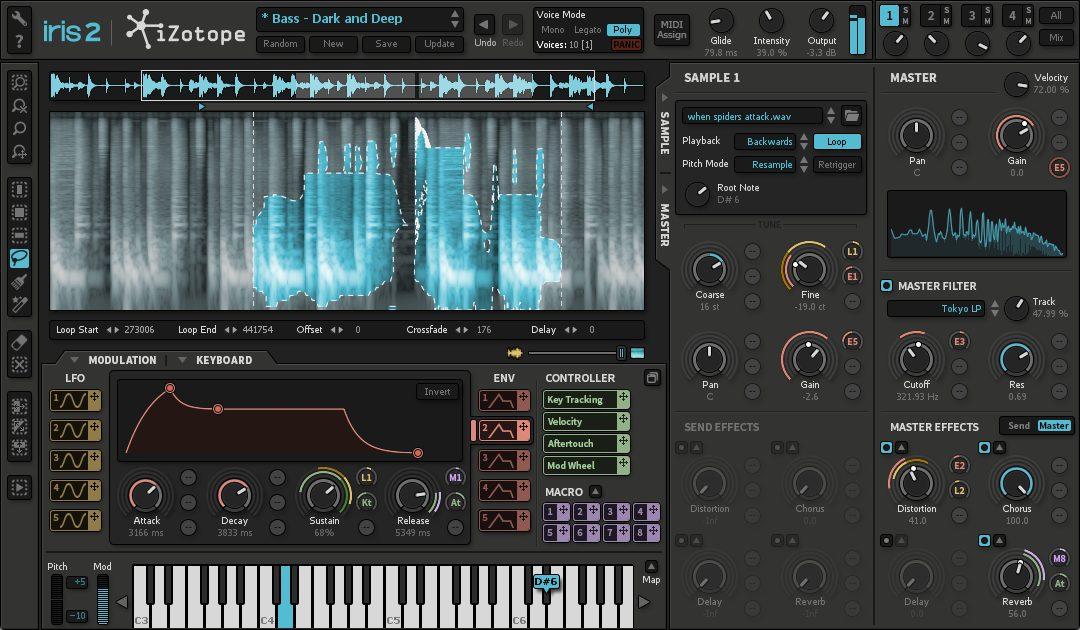 【93%OFF】オーディオ素材から未知のサウンドを生み出せるシンセ iZotope Iris 2が990円!