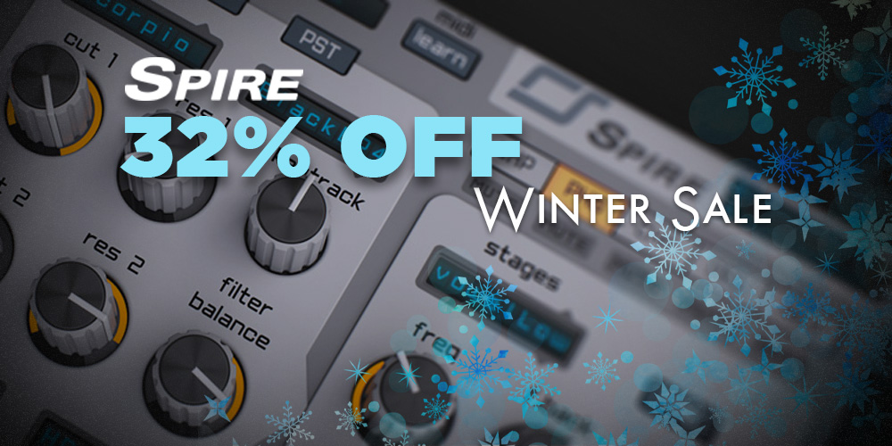 【32%OFF】人気の高性能ソフトシンセ Reveal Sound Spireがウインターセール中!