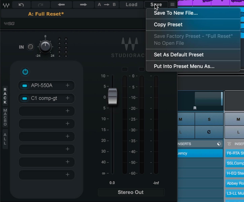 StudioRack preset