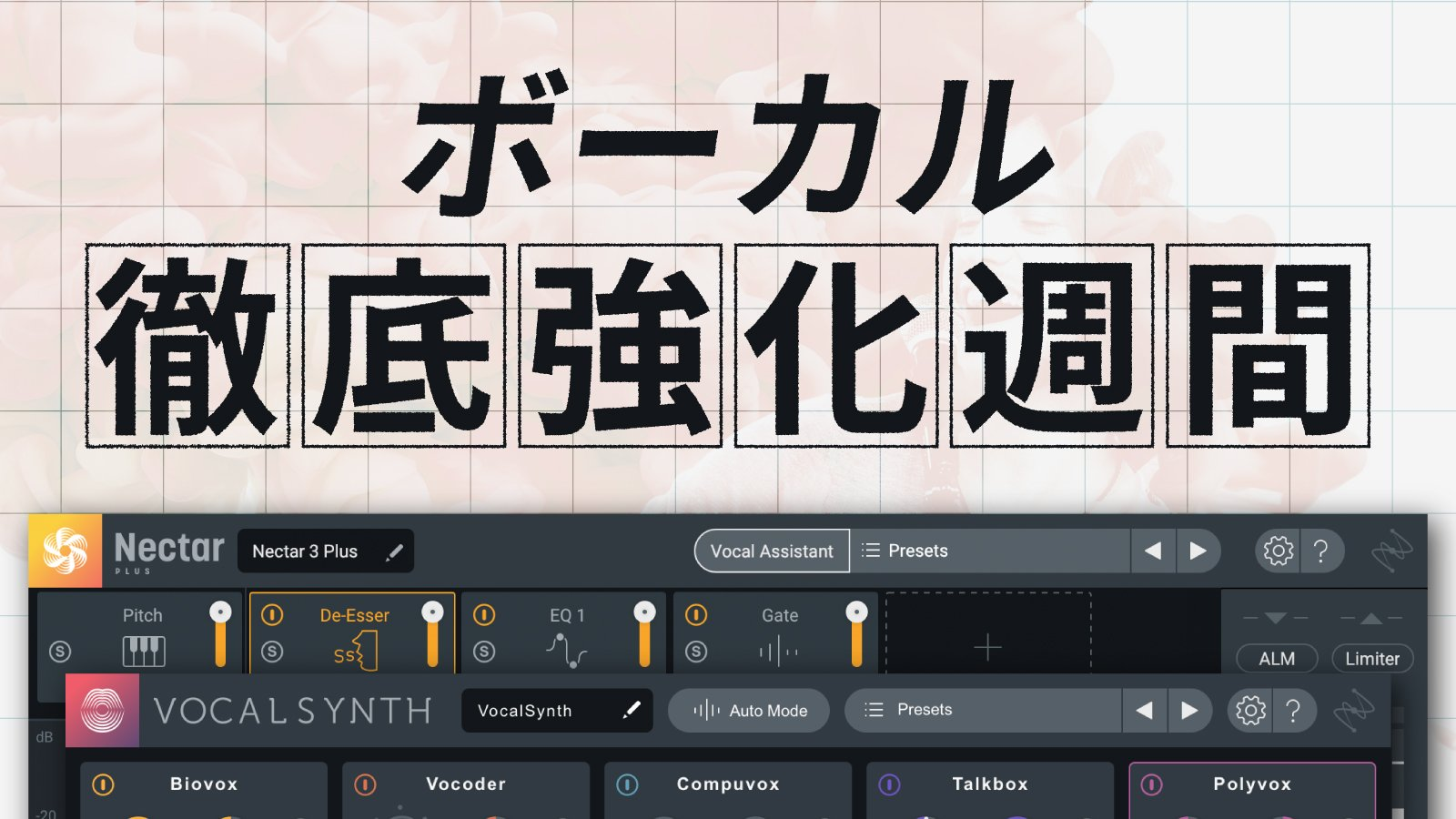 【53%OFF】iZotope Vocal Synth 2とNectar 3 PlusがセットになったVocal Bundleがセール中!