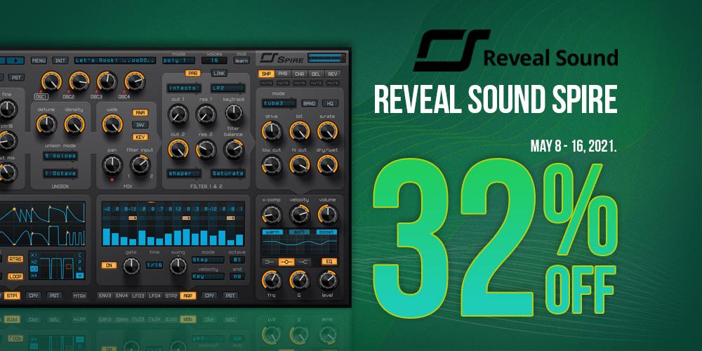 【32%OFF】人気の高性能ソフトシンセ Reveal Sound Spireがセール中!