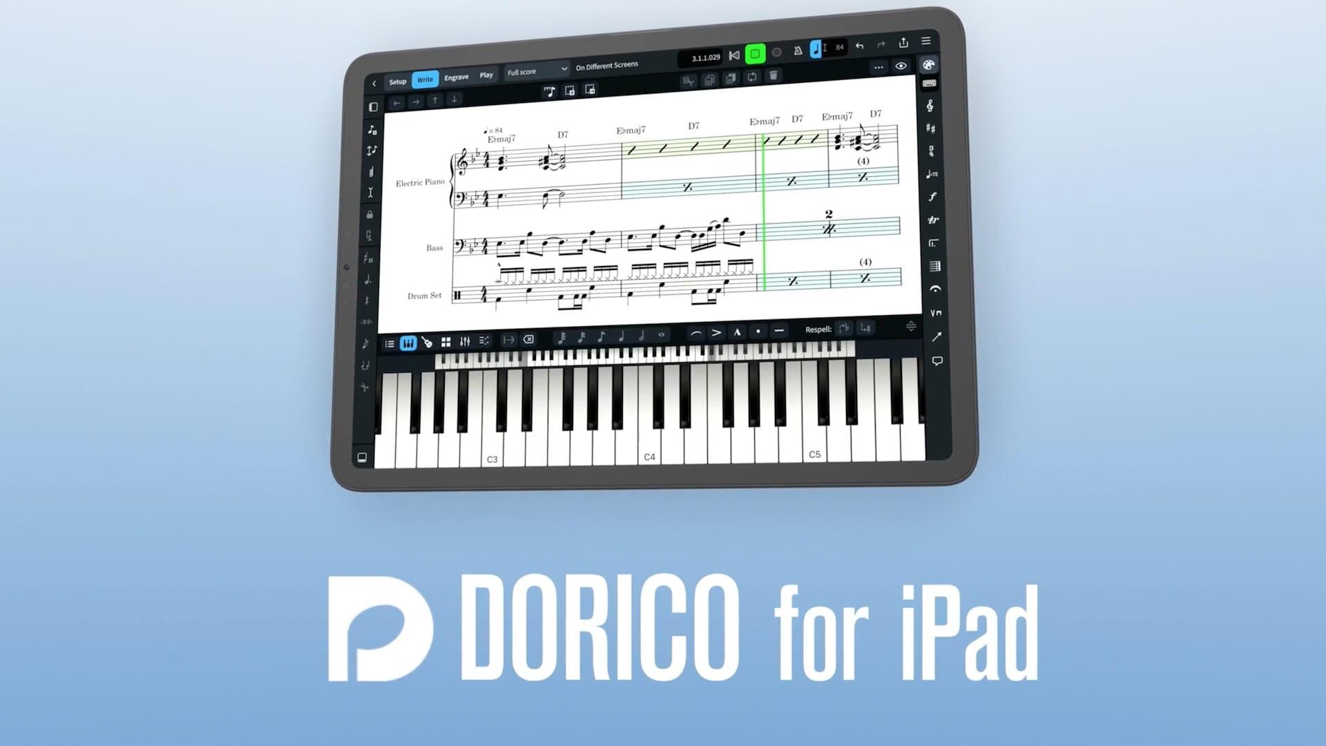 【無料】Steinbergの楽譜作成ソフト Dorico for iPadがリリース!