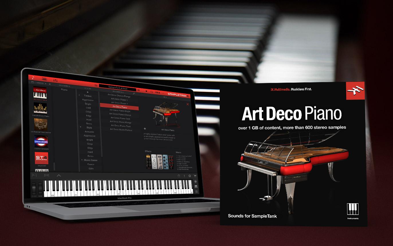 【無料】IK Multimedia のピアノ音源「Art Deco Piano」(約1万円相当)が無償配布中!Sample Tank 4 CS(無償)で使用可能!