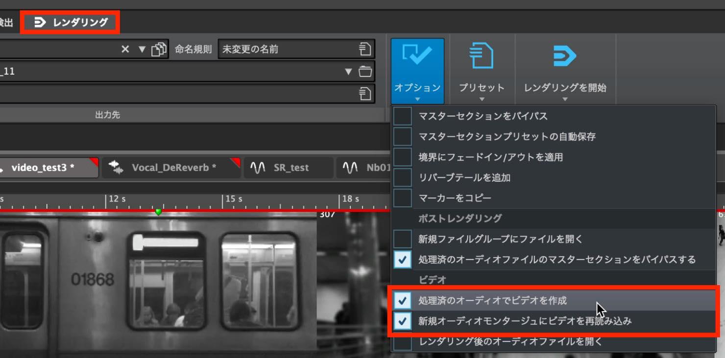 rendering option